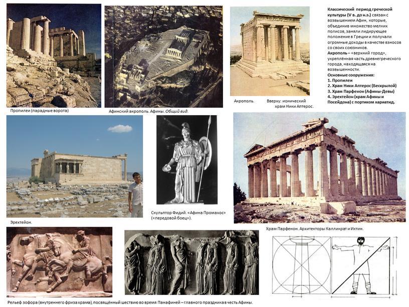 Эрехтейон. Классический период греческой культуры (V в