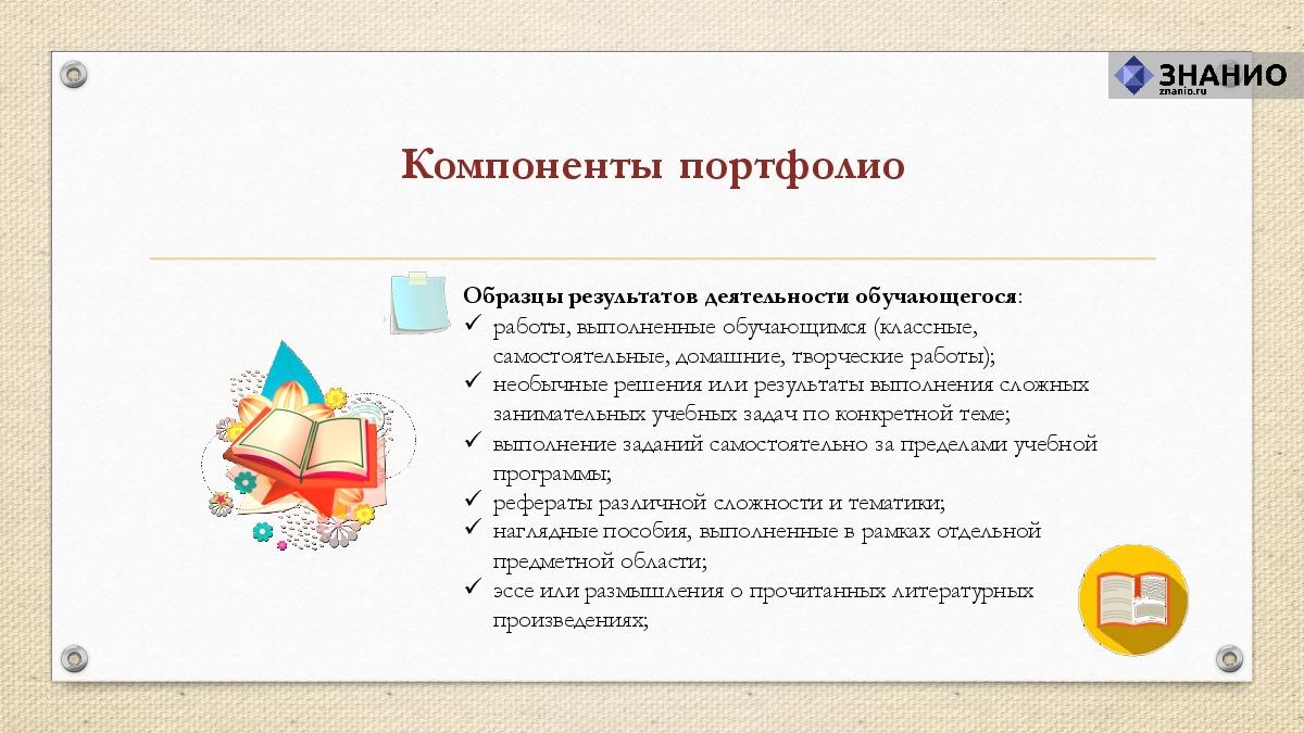 Реферат понятие портфолио в современном образовательном процессе 2983
