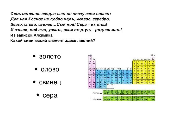 """Викторина по химии """"Кое-что интересное о веществах и элементах"""""""