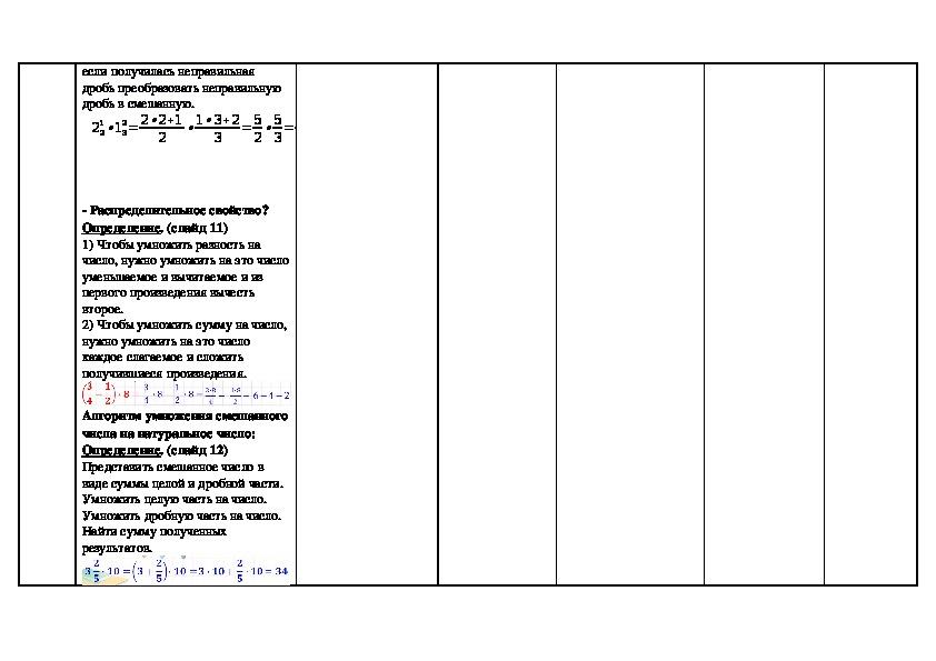"""Открытый урок по математике 6 класс Обобщение по теме """"Умножение дробей"""" посвященный Дню матери"""