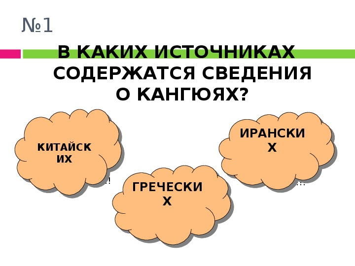 """Презентация по истории Казахстана к теме """"Кангюи"""""""