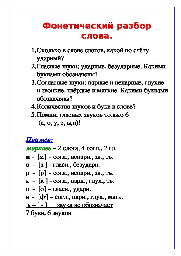 ПАМЯТКИ (русский язык)
