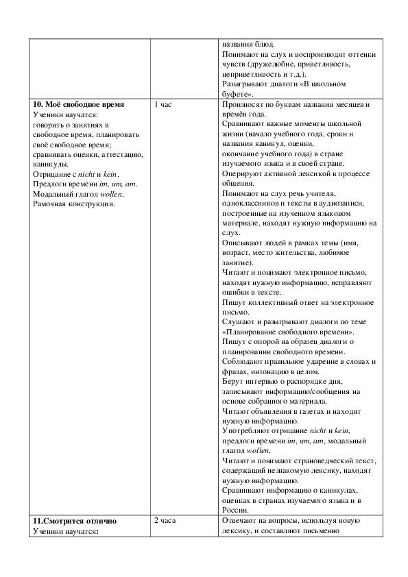 Рабочая программа  учебного предмета    «Немецкий язык» (второй иностранный язык)   7-9  классы  уровень основного общего образования.