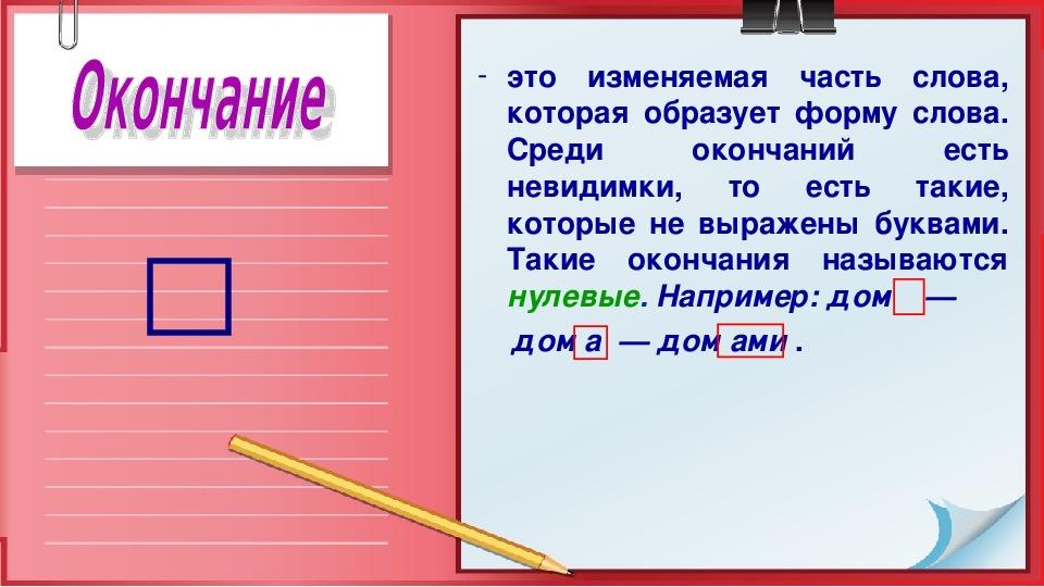 "Презентация по русскому языку ""Значимые части слова"" (5 класс)"