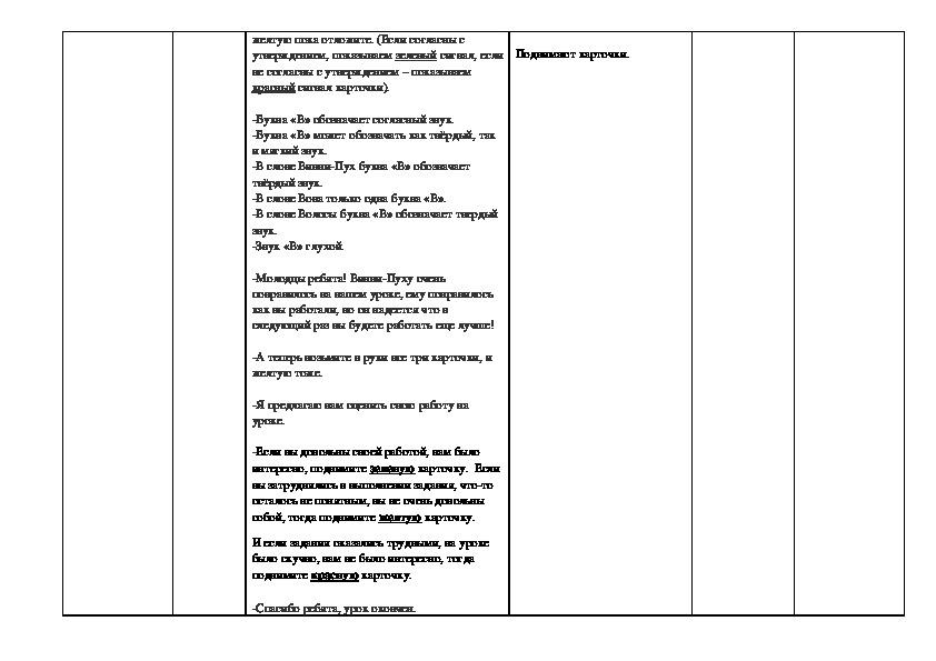 Конспект пробного урока  в 1 «В» классе ГБОУ «Школа № 763» по Обучению грамоте