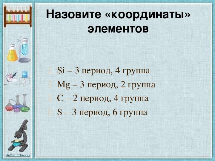 """Разработка занятия """"Знаки химических элементов. Периодическая система химических элементов."""" (5 класс)"""