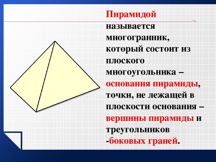 Объем Пирамиды