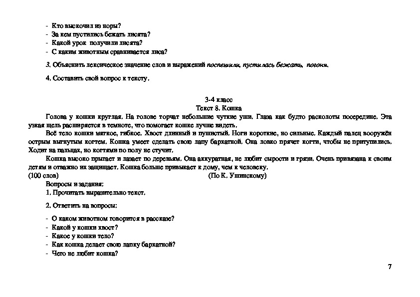 Рабочая программа дополнительных занятий по русскому языку как иностранному для детей среднего школьного возраста