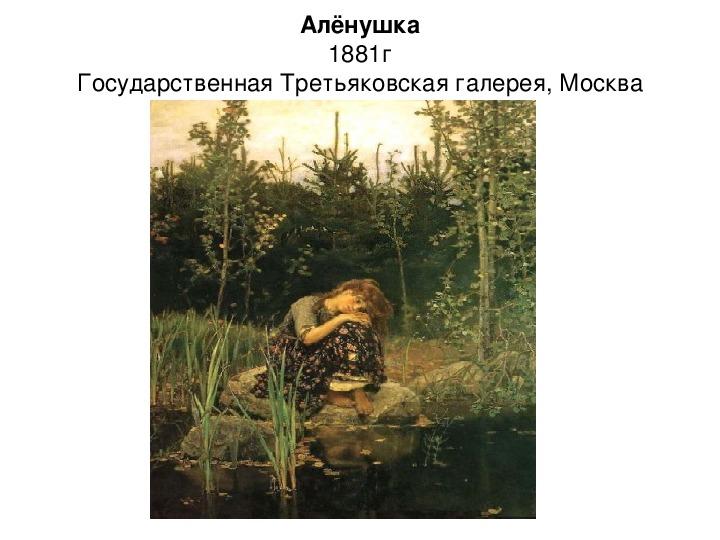 Презентация по истории. Тема: В гостях у Алёнушки (4 класс).