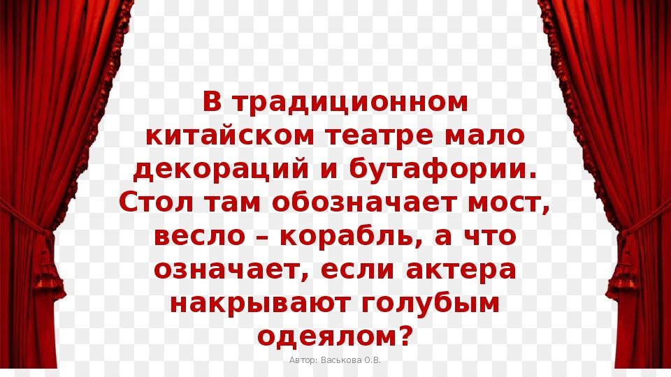 """Сценарий игры """"Театральный квиз"""""""