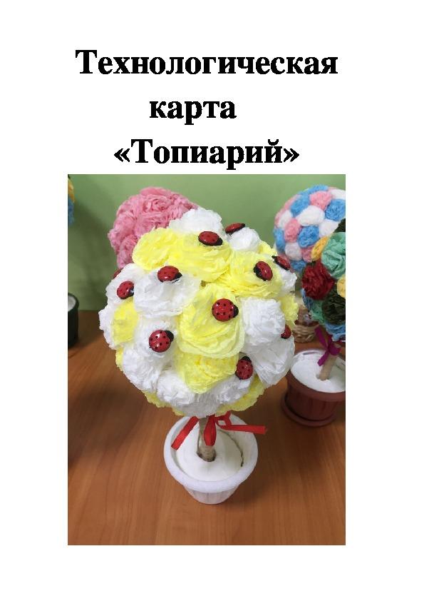 """""""Топиарий! Технологическая карта."""