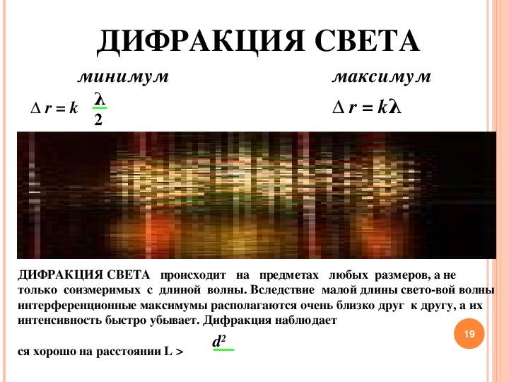 Методическая разработка урока по физике. Тема: Волновые свойства света. (2 курс техникума)