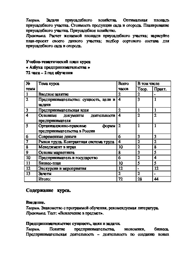 """Программа дополнительного образования """"Семейная экономика и азбука предпринимательства"""" (8-9 классы)"""