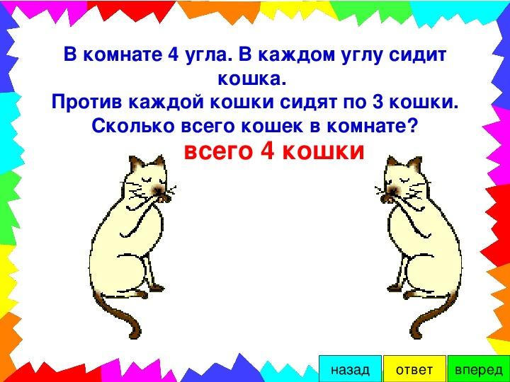 попробую загадка про кошек в комнате трещат