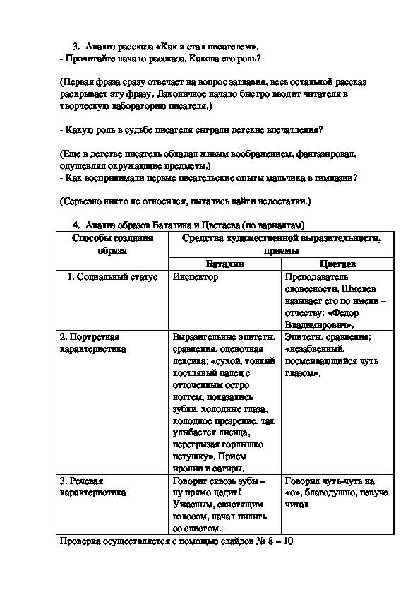 """Конспект урока """"И.С.Шмелев. Слово о писателе. Рассказ """"Как я стал писателем"""" - воспоминание о пути к творчеству"""" 8 класс"""