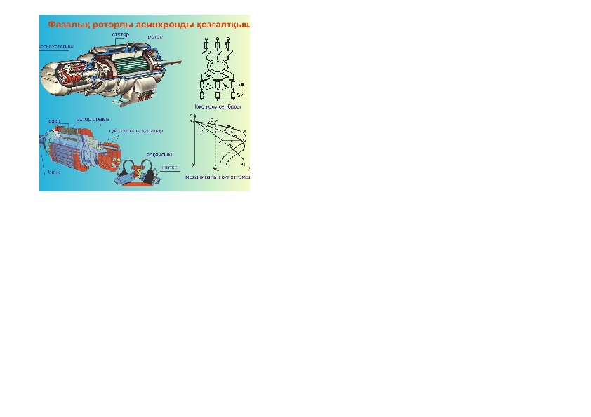 """Демонстрационный стенд на тему """"Асинхронный двигатель с фазным ротором"""""""