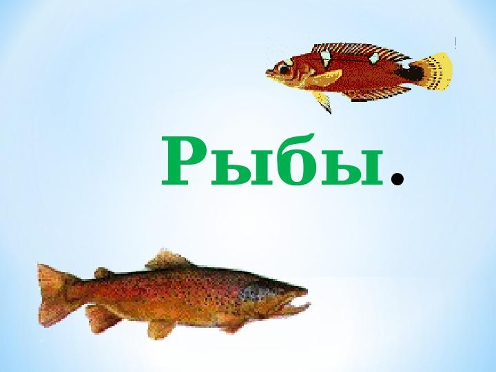 """Презентация по окружающему миру на тему """"Рыбы""""2 класс"""