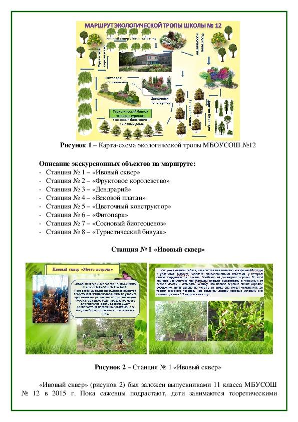 Экологическая тропа МБОУСОШ № 12