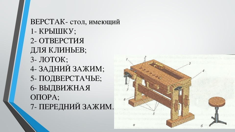 """Презентация по технологии """"Рабочее место и его оборудование"""" (5 класс, технология)"""