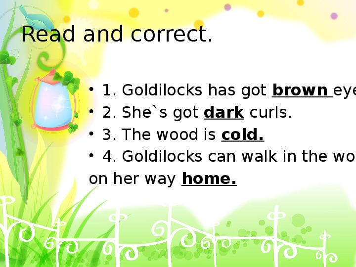 """Презентация по английскому языку на тему """"Златовласка и три медведя"""" 4 класс"""