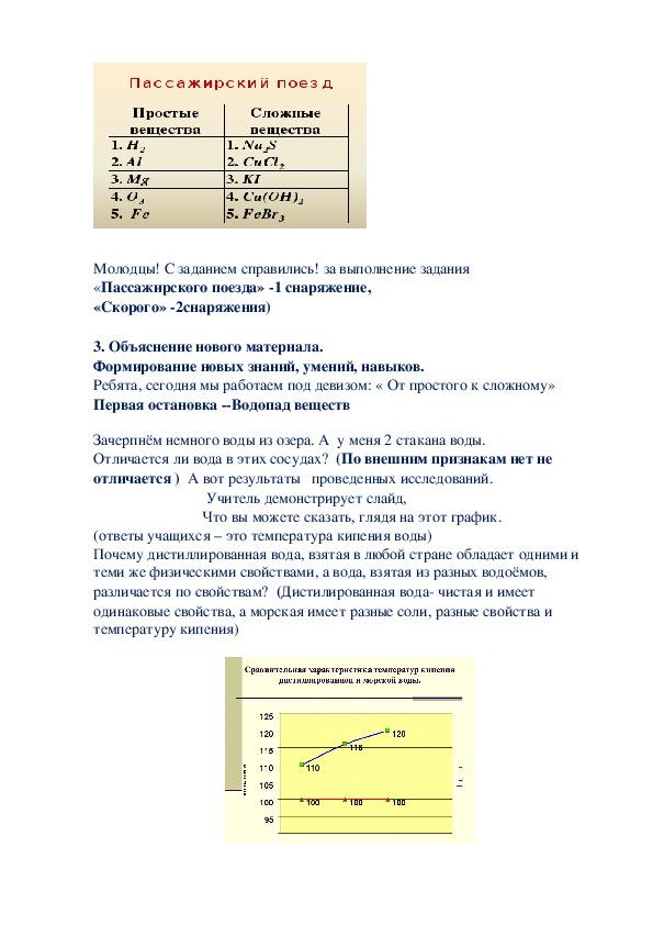 Урок по химии Чистые вещества и смеси