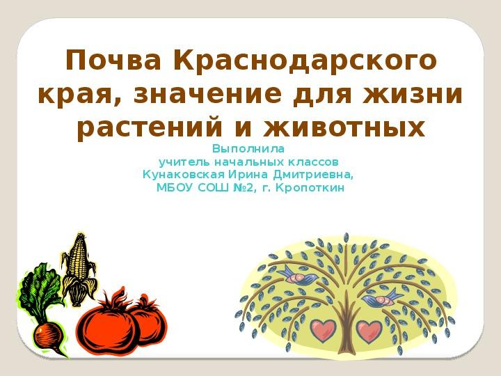 """Презентация """"Почвы Краснодарского края"""""""