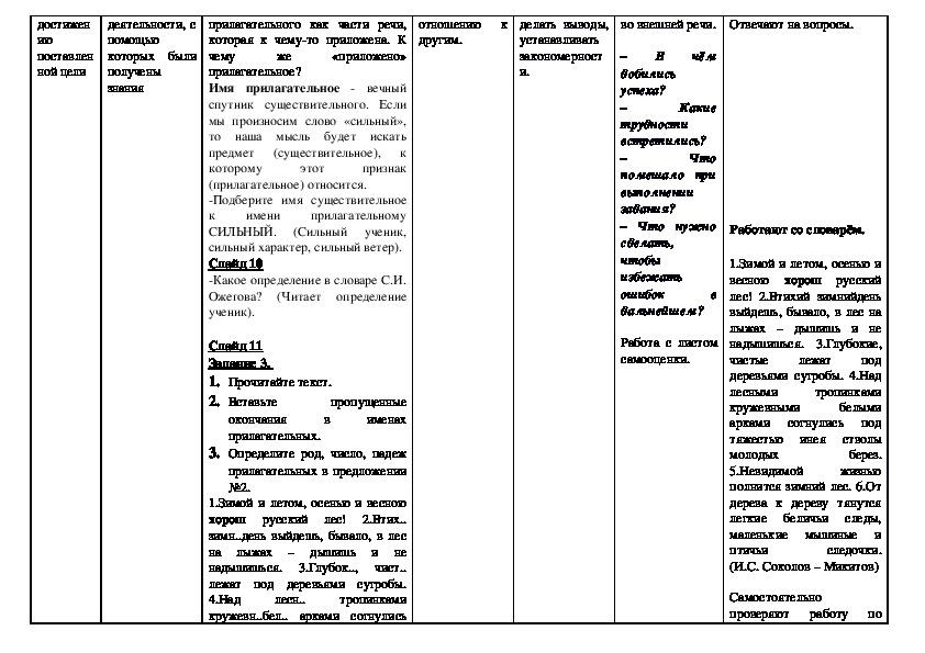"""Урок """"Имя прилагательное как часть речи"""" (6 класс, русский язык)"""