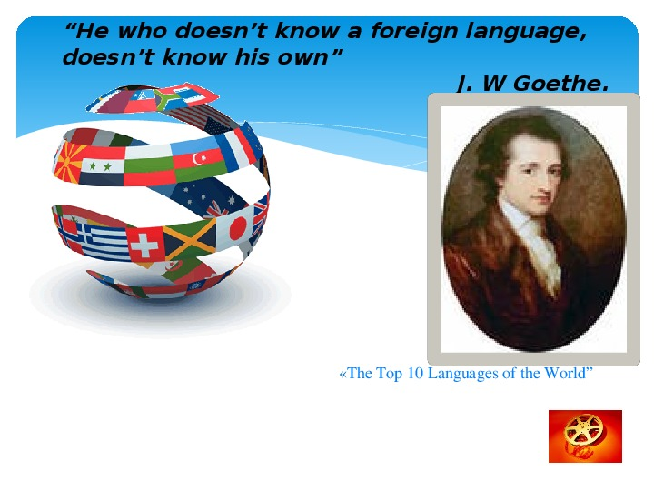 """Урок и презентация по теме """"Значение иностранного языка в моей жизни""""(11 класс, английский язык)"""