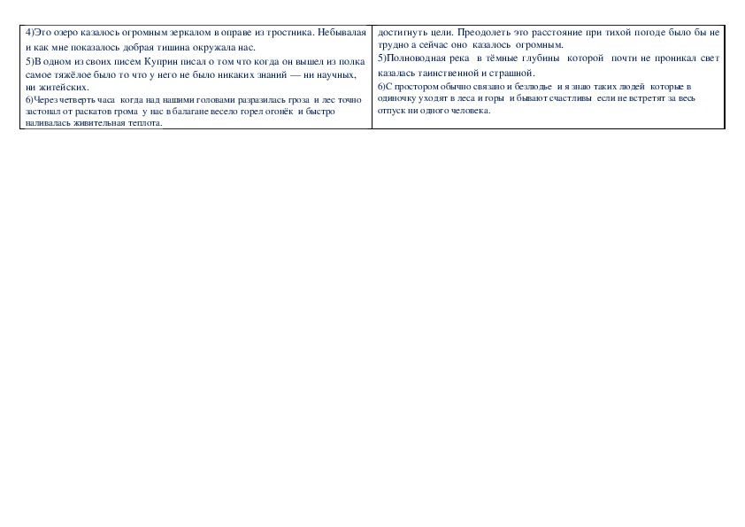 Материалы для контрольной работы   по русскому языку в 11 классе по теме  «Пунктуация в разных типах простого и сложного предложений»
