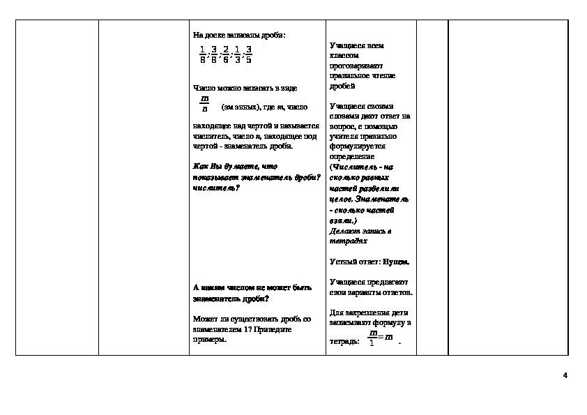 Методическая разработка урока по теме: «Что такое дробь».