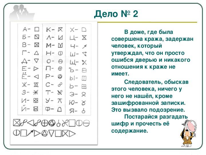 Детские шифры из картинок
