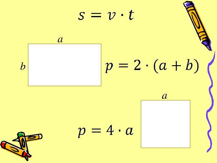 """Открытый урок по математике в 5 классе на тему ;Формулы"""""""