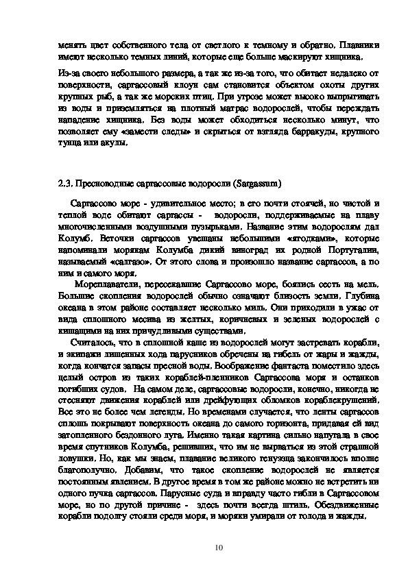 """Проект по географии """"Загадки Саргассова моря"""""""
