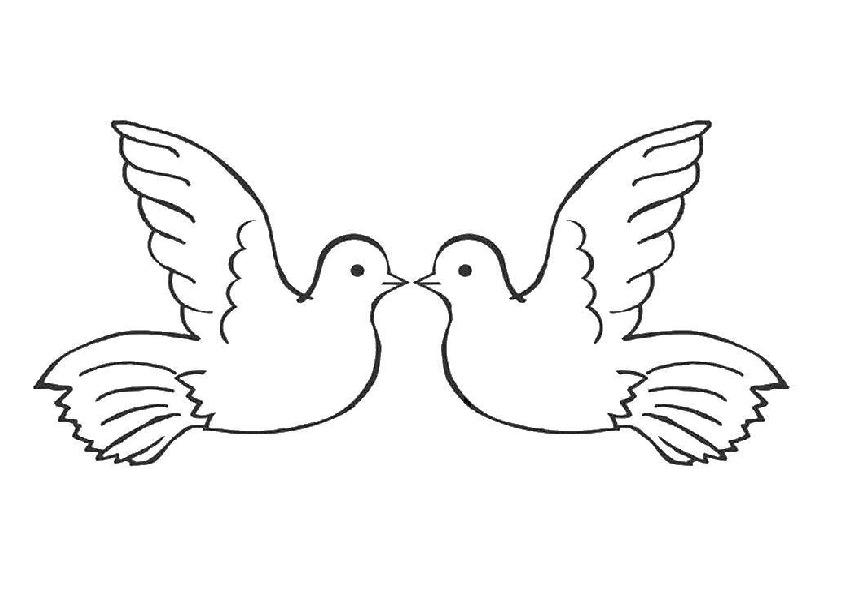 Картинка трафарет голубей