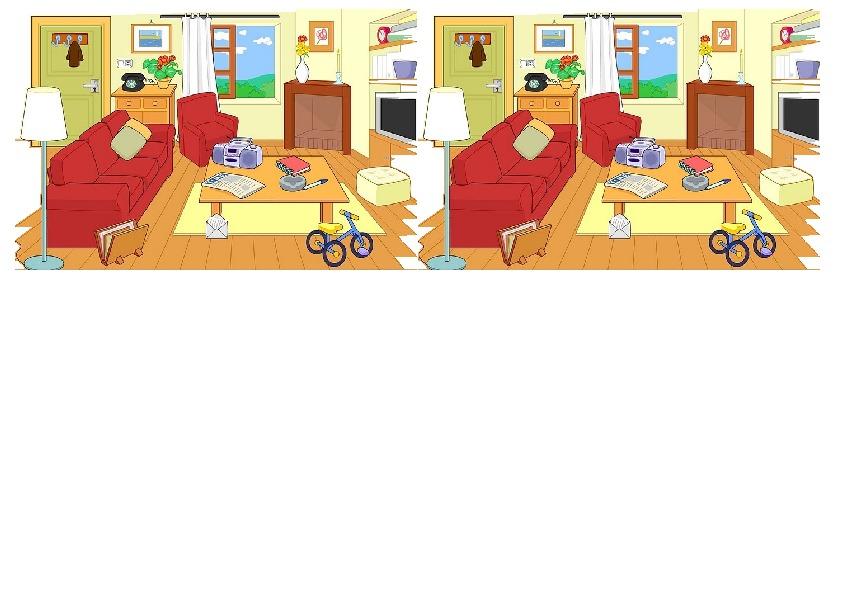 "Карточки-картинки для отработки конструкции ""there is/are"""