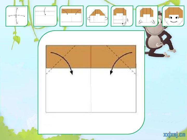 Презентация на тему Оригами для начинающих Обезьянка для 1 класса.