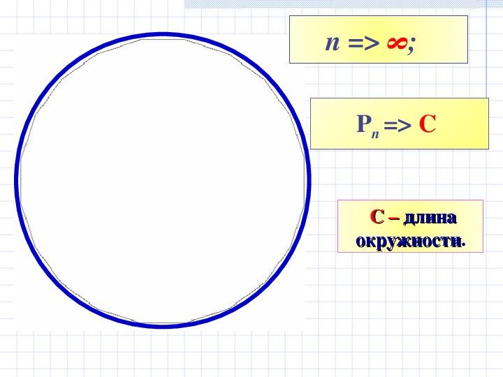 """Презентация по теме """"Длина окружности""""(геометрия 9 класс)"""