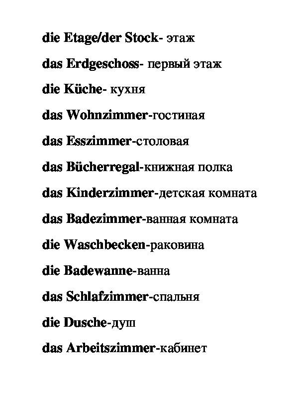 """Урок по немецкому языку на тему """"Мой дом"""""""