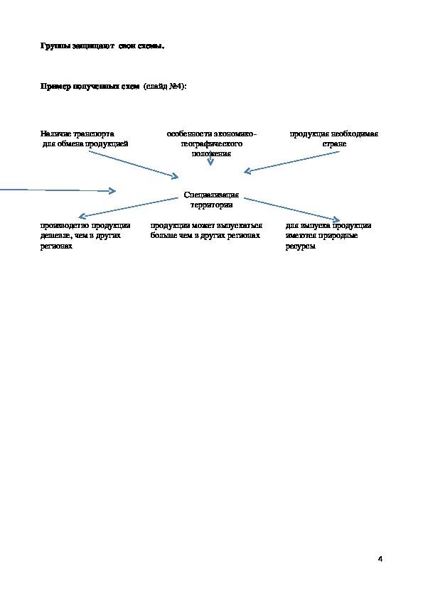"""Разработка урока  по экономической и социальной  географии Казахстана на тему:""""Районирование  территории Казахстана"""""""