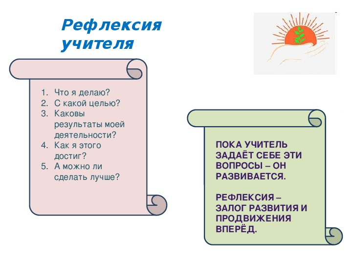 Рефлексия учащихся на уроках в начальной школе.