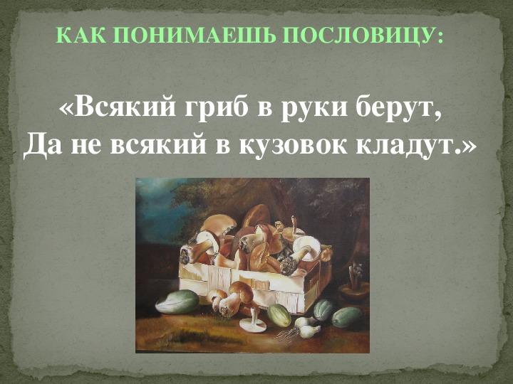 «Грибы съедобные и несъедобные»