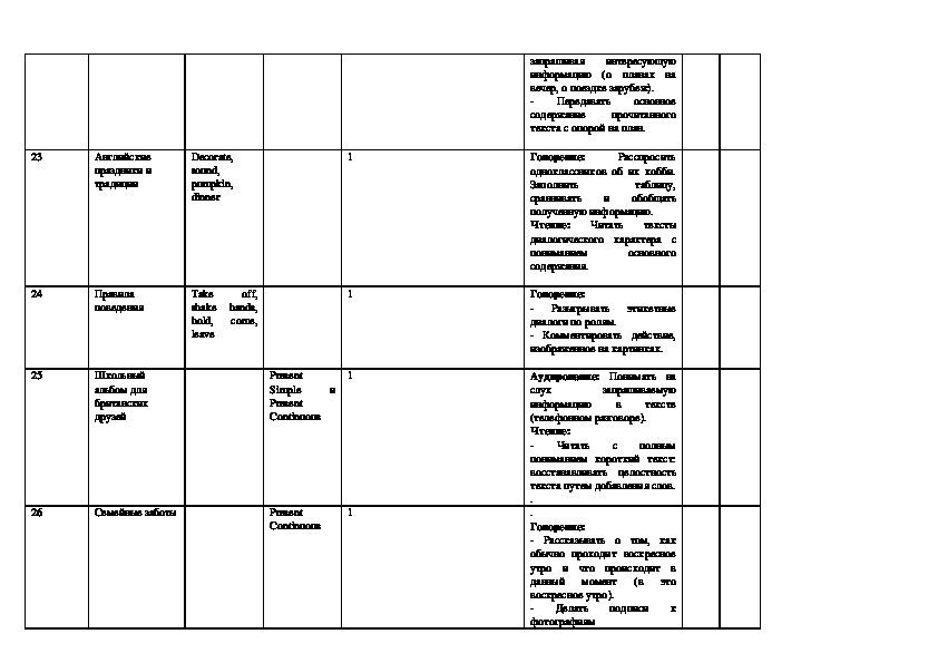 Рабочая программа по английскому языку для 5 класса