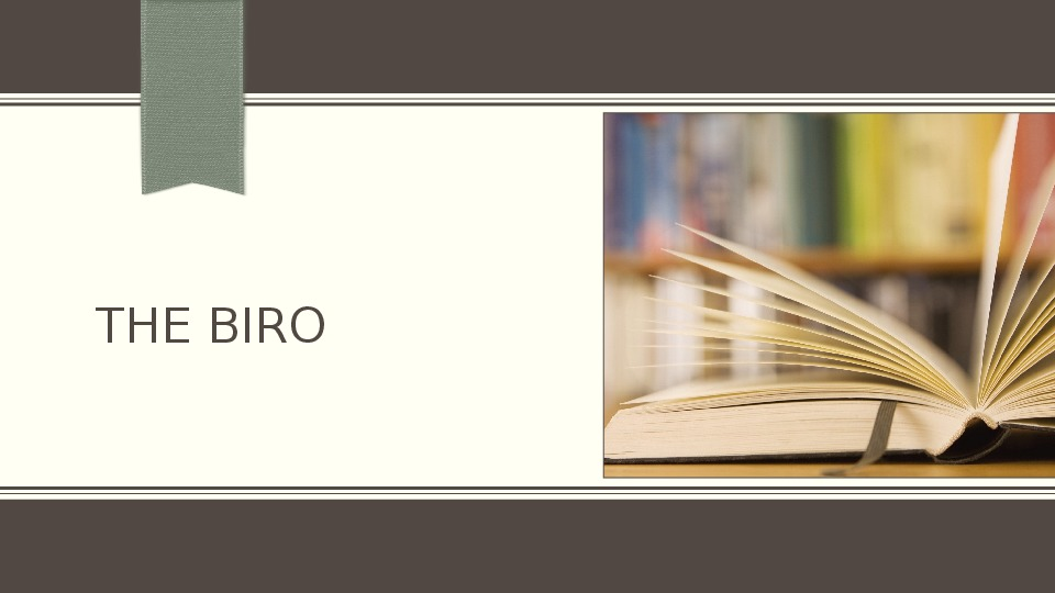 Interesting facts about The biro
