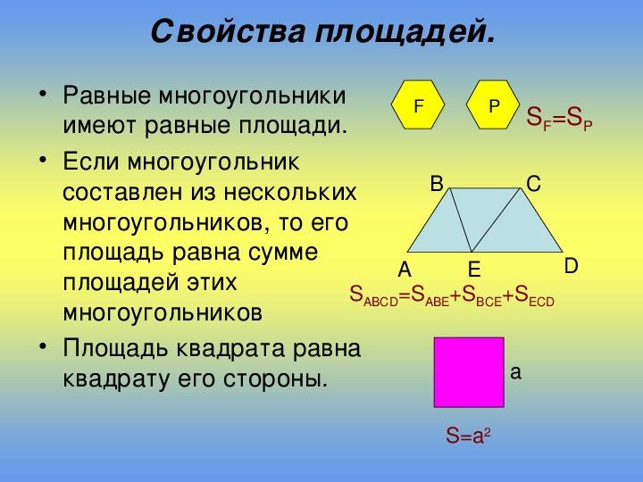 """Презентация по теме """"Площадь многоугольника"""" (геометрия, 8 класс)"""