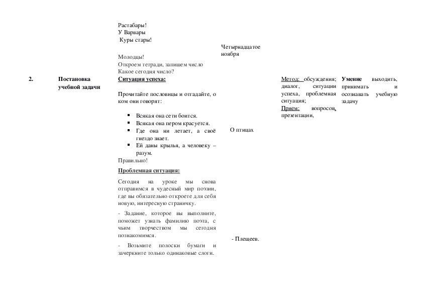Литературное чтение А.Н. Плещеев. «Дети и птичка» (4 класс)