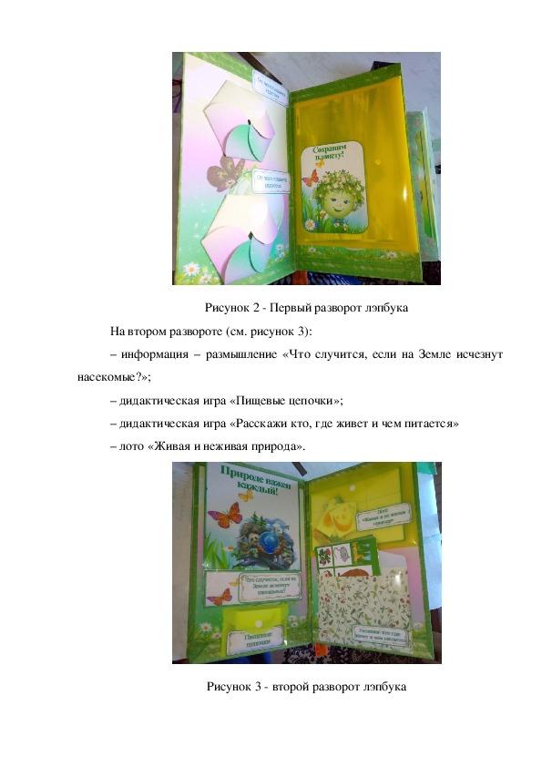 Лэпбук Экологическая безопасность для старших дошкольников