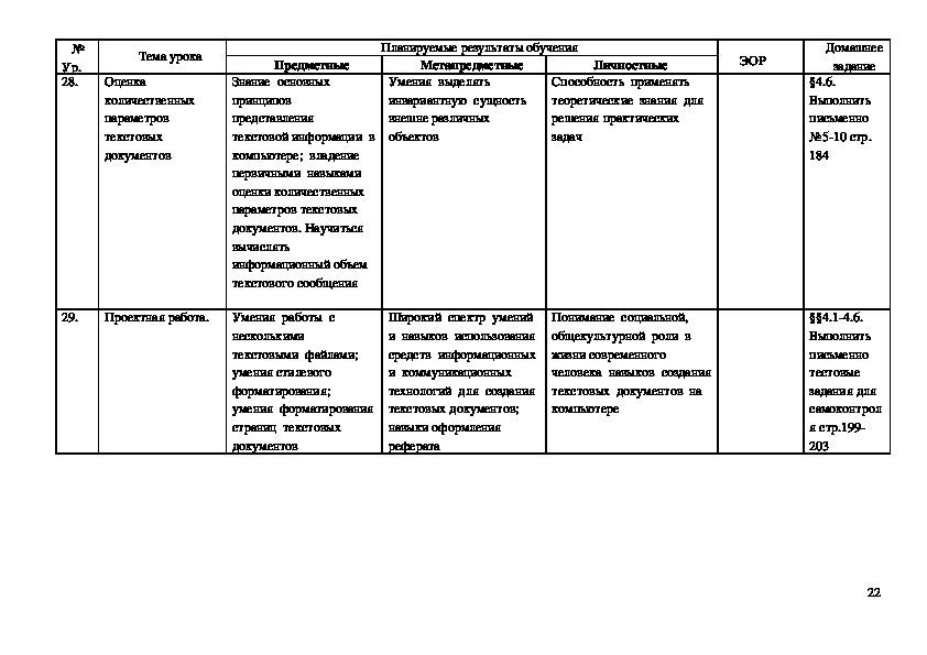 Рабочая программа для 7 класса/Л. Л. Босова, А. Ю. Босова. –М. : БИНОМ. Лаборатория знаний, 2013