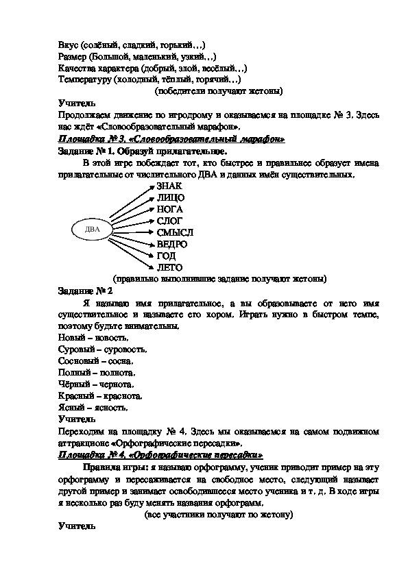 """Внеклассное мероприятие по русскому языку в 5 классе """"путешествие в мир языка"""""""