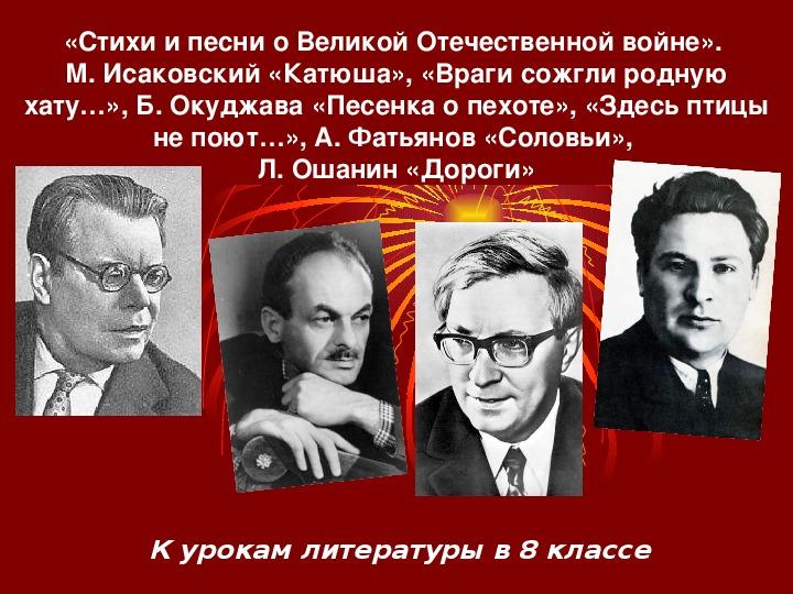 Конспекты уроков по русскому языку и литературе