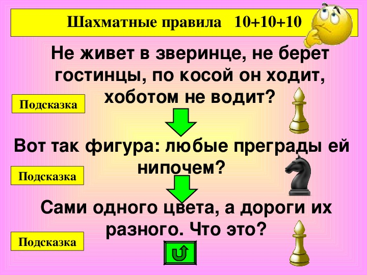 Дидактичекая игра (Блиц-Турнир) по шахматам на тему: «Шахматные Фигуры»